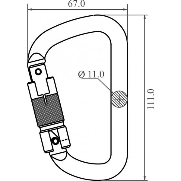 dimensions mousqueton FA5030123