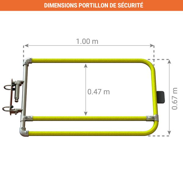 dimensions portillon de securite kee gate