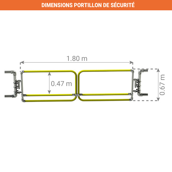 dimensions portillon securite double kee safety