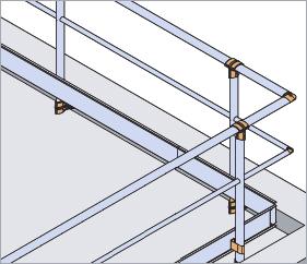 Garde-corps aluminium droit