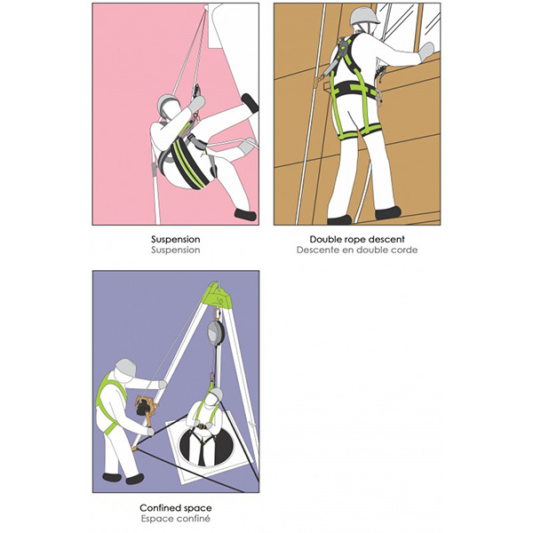 harnais antichute usage occasionnel utilisation