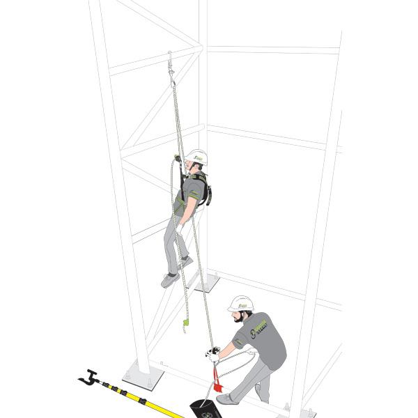 kit antichute systeme evacuation pre incorpore 30 m 50 m