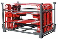 Box de stockage pour barrières de chantier