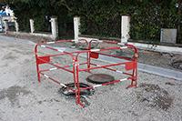 Barrière de chantier en situation