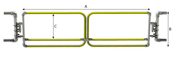 Schéma du portillon de sécurité double Kee Gate