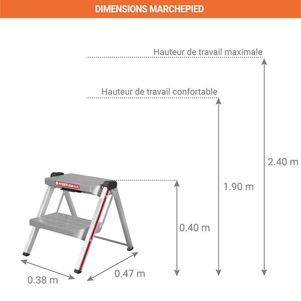 dimensions marchepied 6030