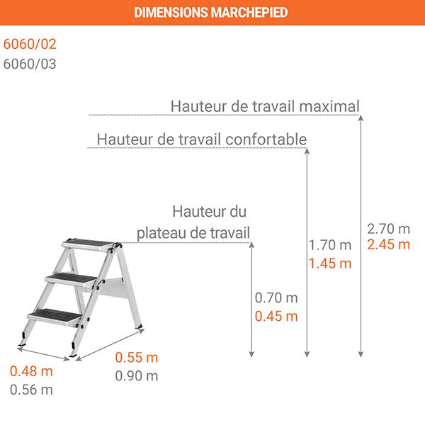dimensions marchepied 6060