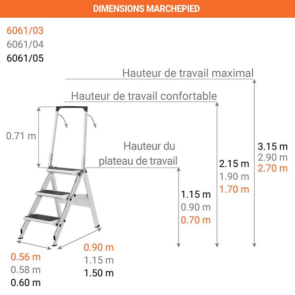dimensions marchepied 6061