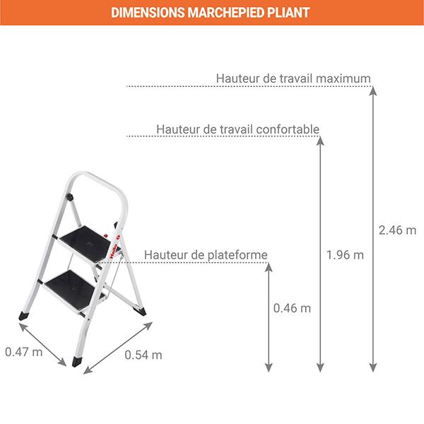 dimensions marchepied pliant 4392