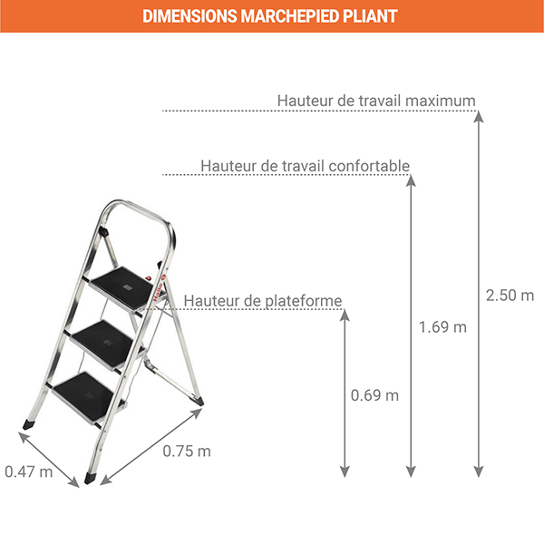 dimensions marchepied pliant 4393