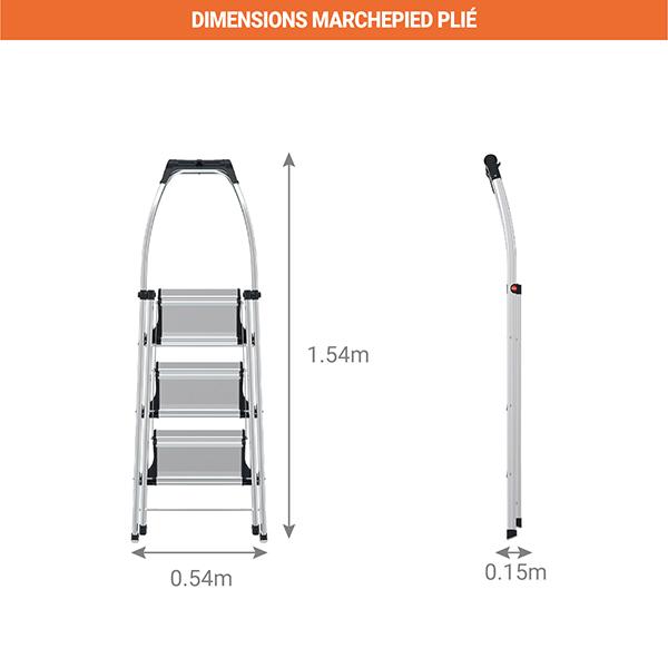 dimensions marchepied plie 4303