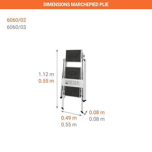 dimensions marchepied plie 6060