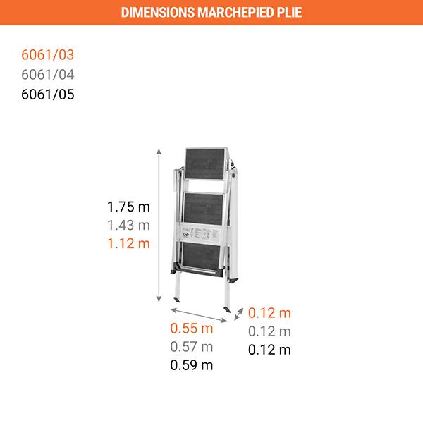 dimensions marchepied plie 6061