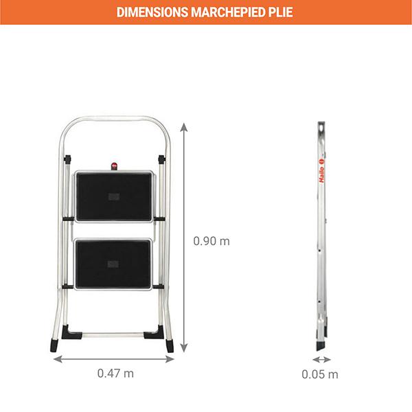 dimensions marchepied pliee 4392