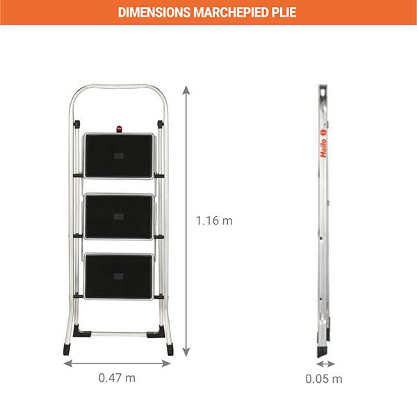 dimensions marchepied pliee 4393
