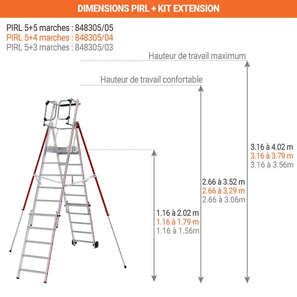 dimensions pirl 8483 5 marches
