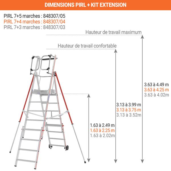 dimensions pirl 8483 7 marches
