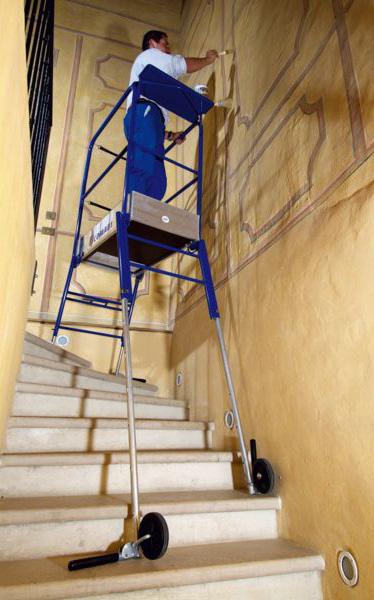 escabeau pour escalier avec r glage ind pendant des 4 pieds. Black Bedroom Furniture Sets. Home Design Ideas