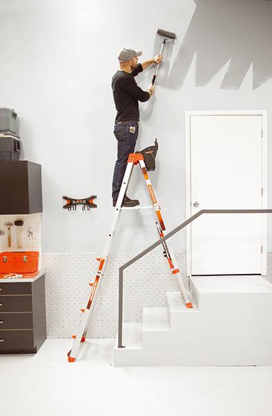Escabeau pour escalier t lescopique r glable en 4 positions - Escalier direct usine ...