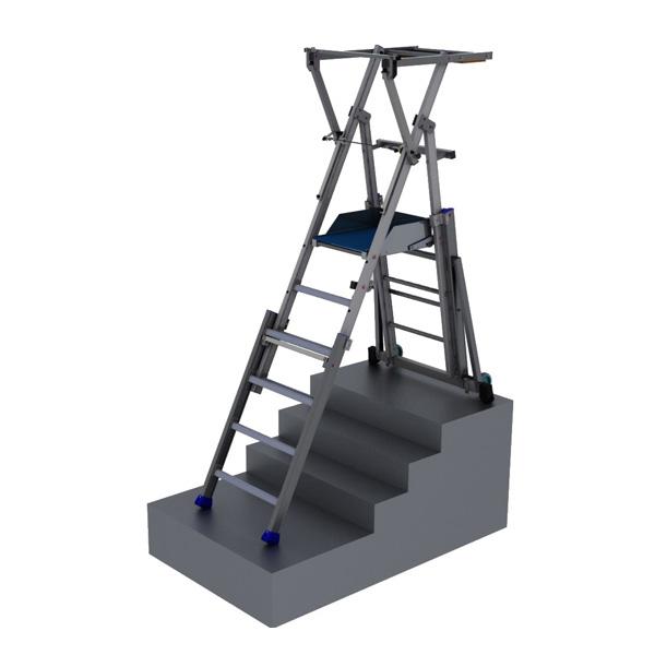 escabeau pour escalier pirl pirc. Black Bedroom Furniture Sets. Home Design Ideas