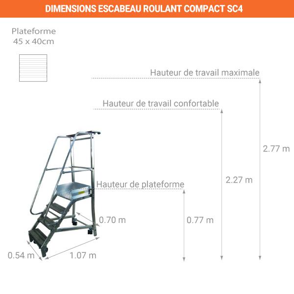 schema escabeau roulant compact SC4
