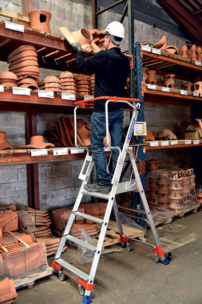 Travail sur l'escabeau Wheelys