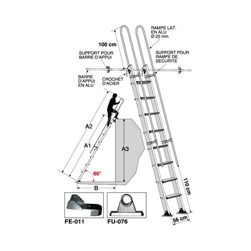escalier droit s152