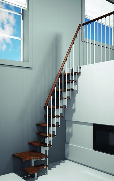 Escalier petit espace pour gagner en place - Changer escalier de place ...