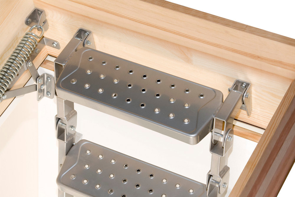 escalier escamotable metallique de. Black Bedroom Furniture Sets. Home Design Ideas