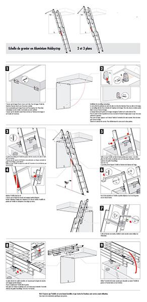 Escalier escamotable aluminium coulissant - Escalier direct usine ...