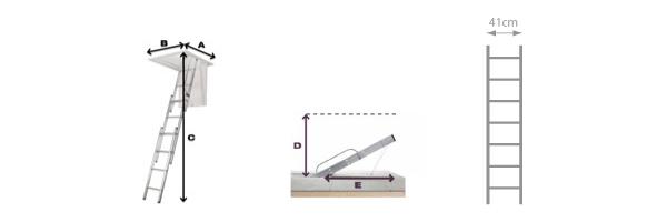 schema escalier escamotable 306340
