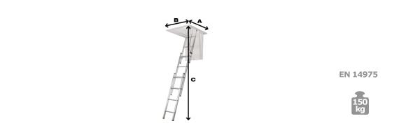 schema escalier escamotable bois