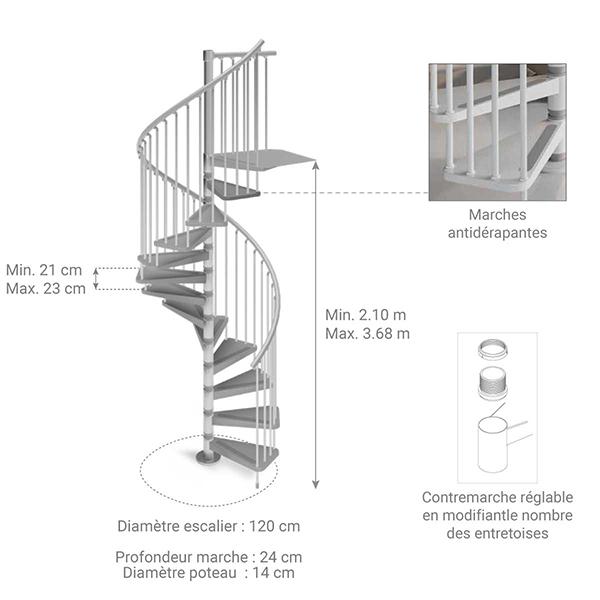 dimensions escalier gain place 912212