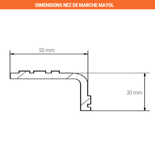 dimensions nez marche mayol 50mm