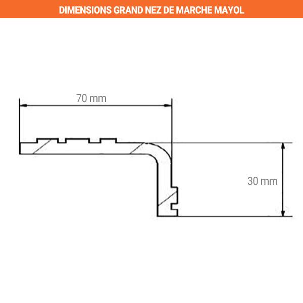 dimensions nez marche mayol 70mm