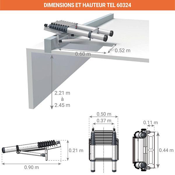 dimensions plie echelleTEL 60324