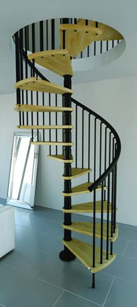 escalier bois colimacon