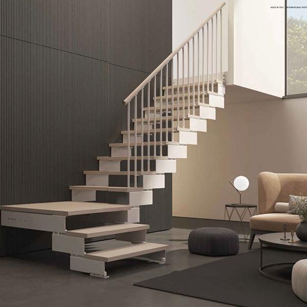escalier bois naturel kompo