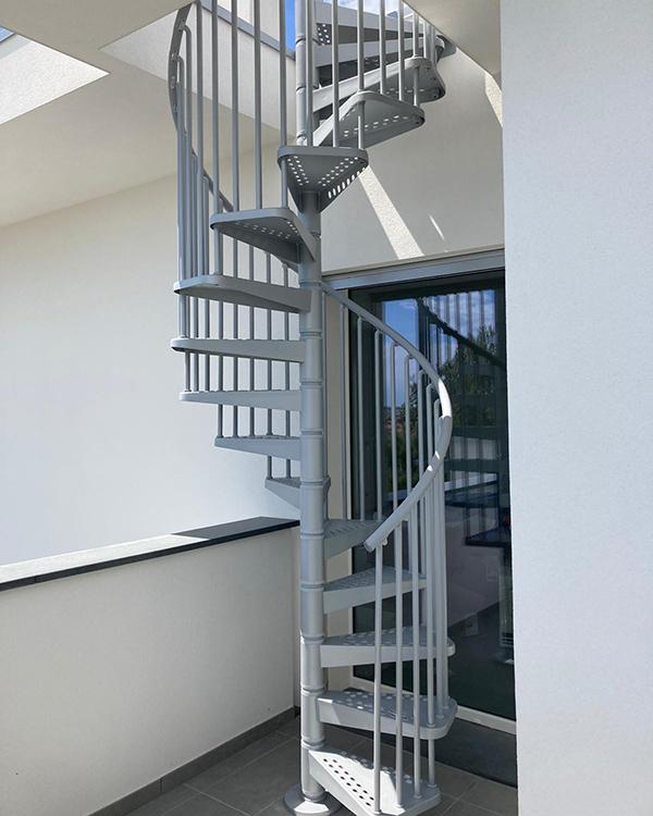 escalier colimacon 9E1200 galvanise