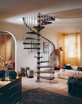 escalier h licoidal bois de grande largeur. Black Bedroom Furniture Sets. Home Design Ideas