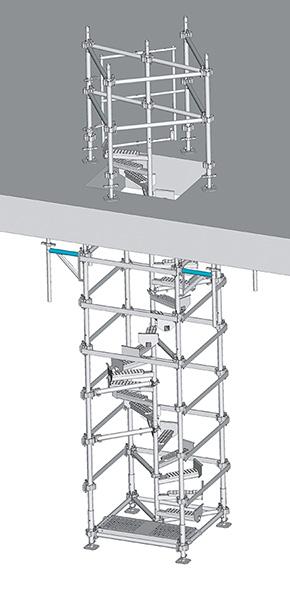 Escalier de chantier hélicoïdal HELISTEP