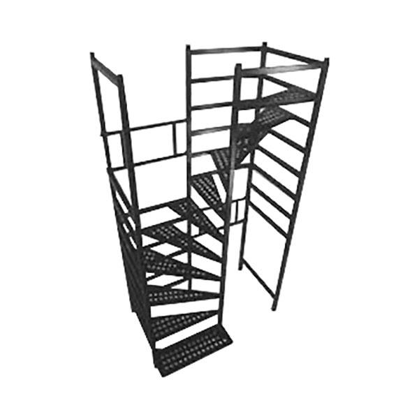 escalier helicoidal chantier