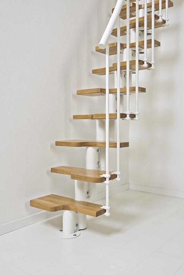 escalier droit beige gain place