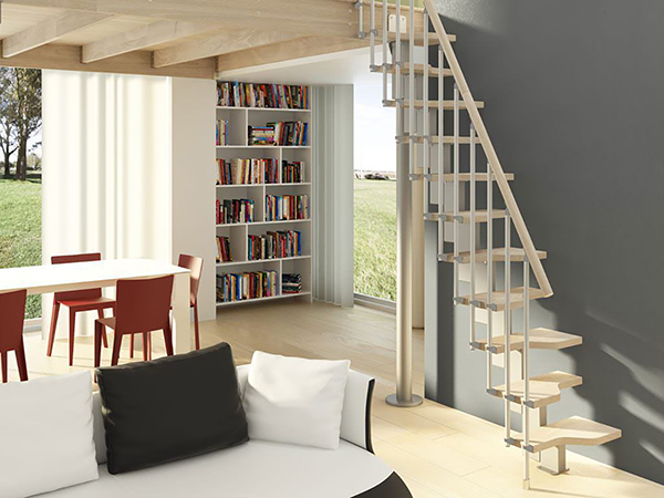 escalier droit gainde place