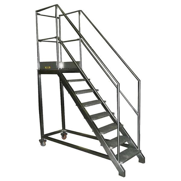 escalier en inox garde corps