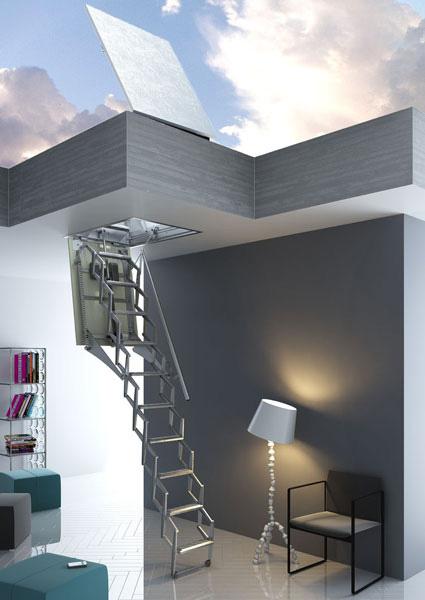 escalier escamotable acces de terrasse