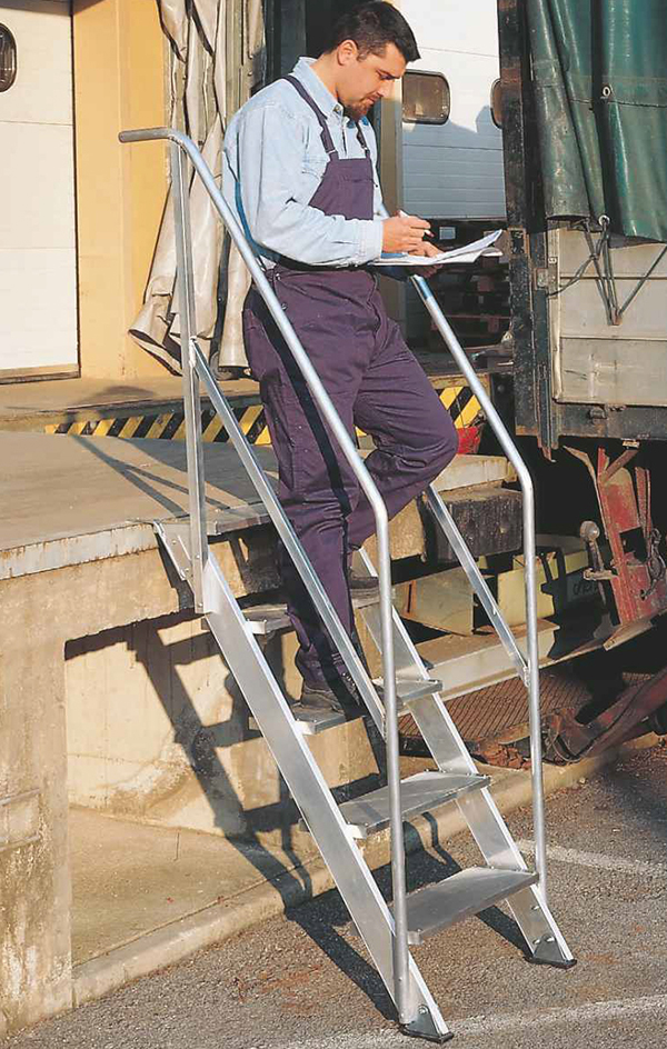 escalier fixe 60 degres marches 600 mm