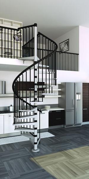 escalier hélicoidal metal