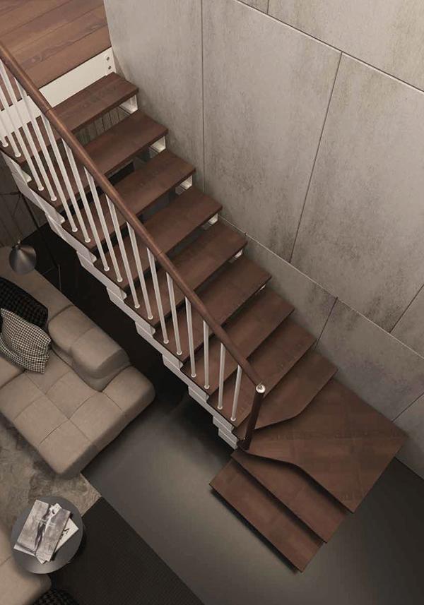 escalier kompo noyer tube
