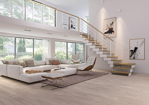 Escalier Quart Tournant Composity Naturel